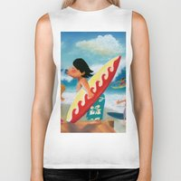 surfer Biker Tanks featuring Surfer by colortown