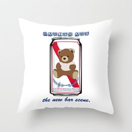 The New Bar Scene Throw Pillow