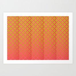 Elegant spring pattern Art Print