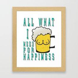 All i need - I love beer Framed Art Print