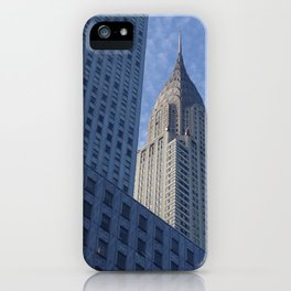 Blue Deco - Chrysler Building, New York City iPhone Case