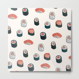 So Much Sushi Metal Print