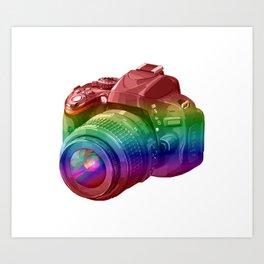 Rainbow Camera Art Print
