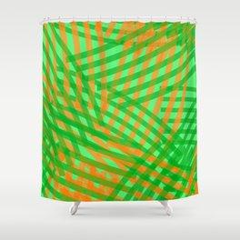 brush stroke overlap_tropical Shower Curtain