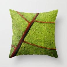Leaf Veins II Throw Pillow