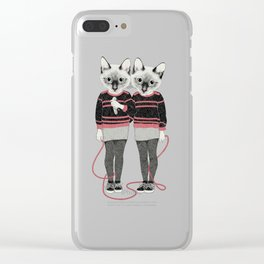 siamese twins Clear iPhone Case