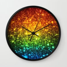 RainBoW Sparkle Stars Wall Clock