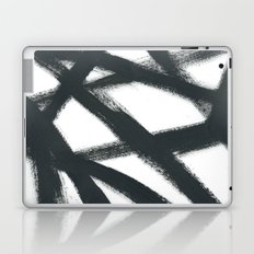 Black Linear Abstract Laptop & iPad Skin