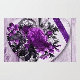 Violet heart | Coeur violet Rug