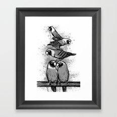 black & grey  Framed Art Print