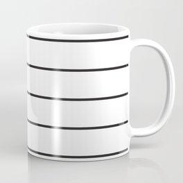 SKINNY STRIPE ((black on white)) Coffee Mug