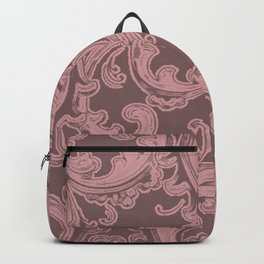 Retro Chic Swirl Bridal Rose Backpack