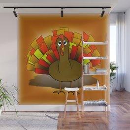 Worried Turkey Illustration Wall Mural