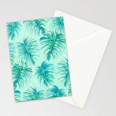 Paradise Palms Mint Stationery Cards