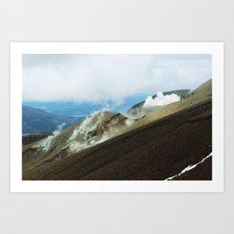 Crossing II (Tongariro, New Zealand) Art Print