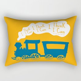 I Think I Can, I Think I Can, I Think I Can - The Little Engine that Could inspired Print Rectangular Pillow