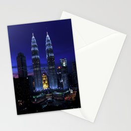 Petronas Towers in Kuala Lumpur, Malaysia Stationery Cards