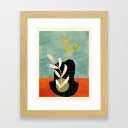 abstract minimal vase Framed Art Print