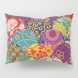 Japanese Wave Seigaiha Seamless Patterns Symbols Pillow Sham