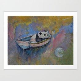 Panda Moon Art Print