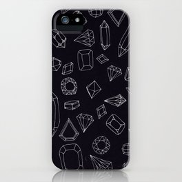 doodle crystals iPhone Case
