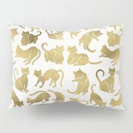 Cat Positions – Gold Palette Pillow Sham