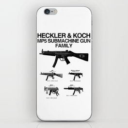 MP5 SUBMACHINE GUN FAMILY iPhone Skin