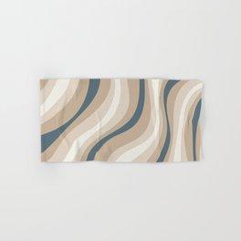 Pastel Blue and Coffee Stripes Hand & Bath Towel