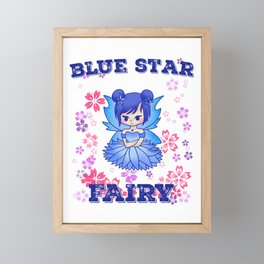 Fee Blue Star fairy tale girl gift Framed Mini Art Print