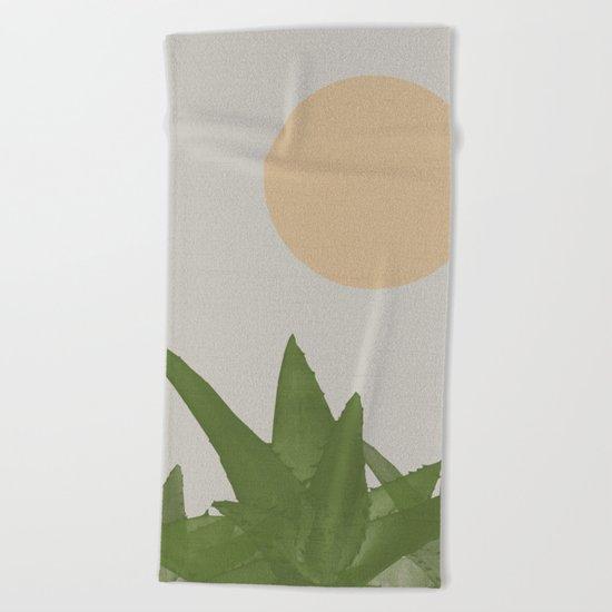 Aloe and moon Beach Towel