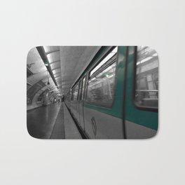 paris metro black and white with color Bath Mat