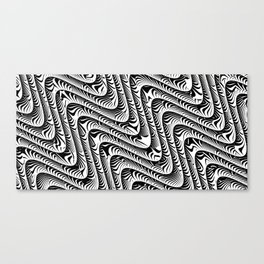 Black and White Serpentine Pattern Canvas Print