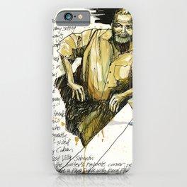 Hemingway Statue in La Floridita, Havana iPhone Case