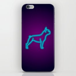 NEON FRENCH BULLDOG DOG iPhone Skin