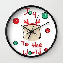 Mochie -Joy to the world Wall Clock