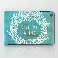 hug iPad Cases featuring Hug by lescapricesdefilles