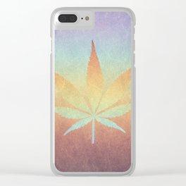 Cannabis sativa Clear iPhone Case