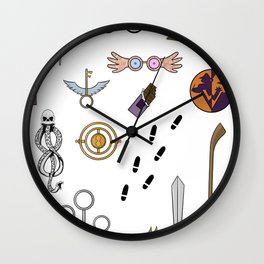 HP doodles Wall Clock