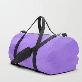 Lilac Fog Surrounding Anchorage Mountains Duffle Bag