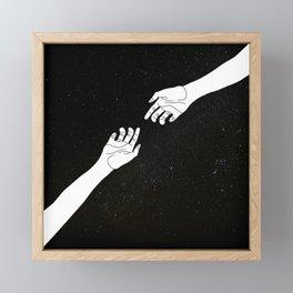 Find me among the stars Framed Mini Art Print