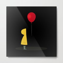 Red Balloon for 1 Penny Metal Print