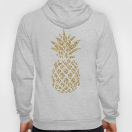 Gold Glitter Pineapple Hoody