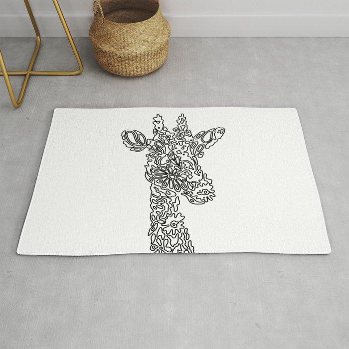 Unique Giraffe Rug