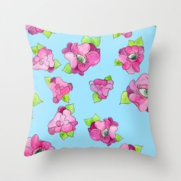floral gaze Throw Pillow