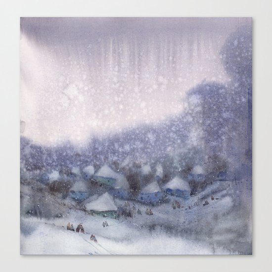Winter atmosphere Canvas Print