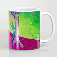 lovers Mugs featuring Lovers by KadetKat