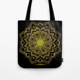 Golden Mandala Tote Bag