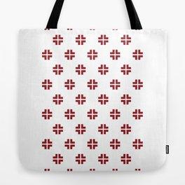 Scandinavian / Red + White Tote Bag