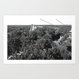 Early 6 Flags Great Adventure Art Print