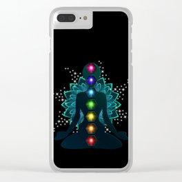 Sitting Buddha Clear iPhone Case